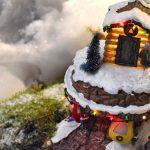 Les télécabines du village d'un village miniature Lucille