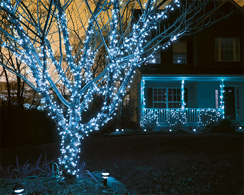 Les guirlandes lumineuses de Noël
