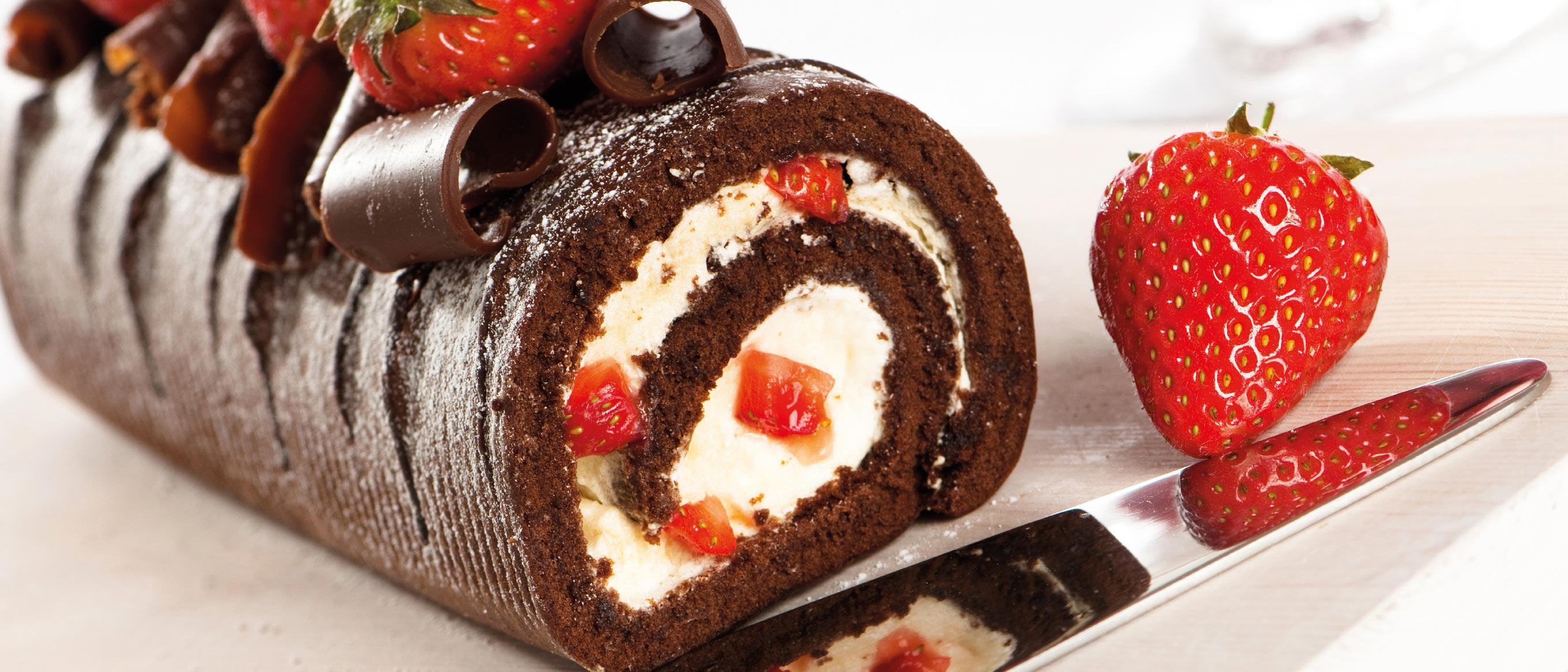 Recette buche de noel a la fraise